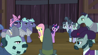 Big Daddy McColt approaches Twilight and Fluttershy S5E23