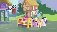Pinkie Pie appears in a crib S5E19