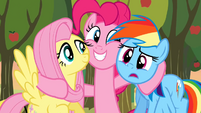 Pinkie Pie hug S2E15