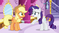 "Rarity ""it is a costume of some kind"" S7E9"