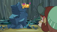 Smolder punches the rock some more S9E3