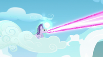 Starlight Glimmer with magic beam about to hit her S5E26