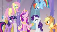 Twilight, Cadance, and friends in the spa S03E12