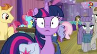 Twilight Sparkle hears Pinkie Pie S9E16