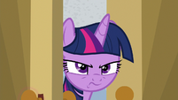 Twilight angrily follows Flim and Flam S8E16