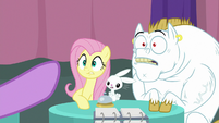Twilight points her hoof at Fluttershy S9E16