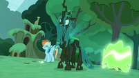 """Rarity"" transforms into a changeling S5E26"