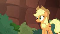 "Applejack realizing ""oh"" S8E23"