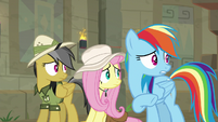 Daring, Fluttershy, and RD turn to Ahuizotl S9E21