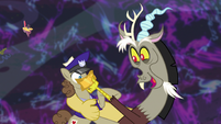 Discord shows off his Gala ticket to Parcel Post S5E7