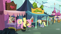 Fluttershy observes the cherry S2E19