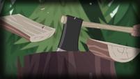 Old Spice chopping a log in half EG4