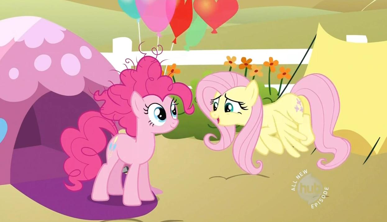 Pinkie Pie & Fluttershy talking S2E15.png