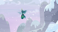 Queen Chrysalis flies away with Starlight S9E24
