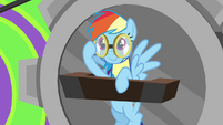 Rainbow putting her goggles on S3E07