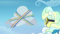 Rainbow spirals around a cloud at high speed S6E24