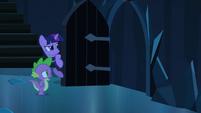 Spike approaching door S3E2
