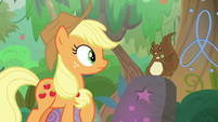 Squirrel appears before Applejack S8E23