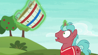Tryout unicorn stallion staring in shock S6E18