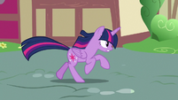 Twilight Sparkle chasing after Rarity S7E14