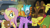 Twilight Sparkle trying to talk through her mask S7E20