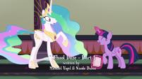 Twilight asking for Princess Celestia's advice S8E1