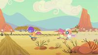 CMC riding through the desert S4E05