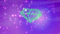 Diamond-shaped fireworks in the sky S9E13