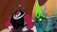 Lord Tirek and Chrysalis looking smug S9E24
