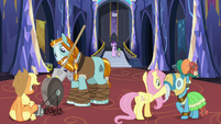 Pillars of Equestria sharpening their artifacts S7E26