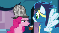 Pinkie Pie blows bubbles from her pipe S7E23