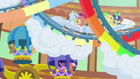 Ponies on roller coaster and Ferris wheel S6E20
