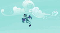 Princess Ember coming in for a landing S7E15