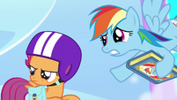"""Rainbow """"you might wanna hold onto your wings"""" S7E7"""