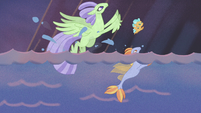 Seaponies leave the sea and turn into Hippogriffs S8E16
