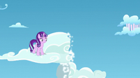 Starlight sees part of the cloud fall down S5E26
