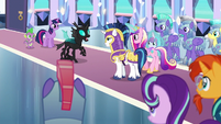 Thorax addressing the ponies S6E16