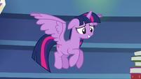 Twilight Sparkle grinning nervously S6E21