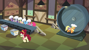 Main ponies ready to work in the cherry factory S02E14.png