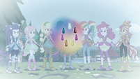 Mane Seven ponied up with their magic geodes EGFF