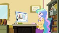 Principal Celestia at her office desk EGDS37