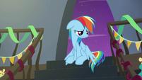 Rainbow Dash lamenting her nickname S6E7
