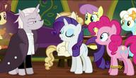 S06E12 Rarity i Pinkie Pie rozmawiają z Zesty Gourmand