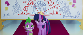 Twilight looking sad; Spike feeling awkward MLPTM