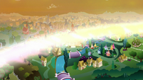 Dystopian Ponyville washed in light S9E2