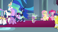 Everyone stares at Spike with shock S9E4