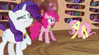 """Fluttershy, Pinkie, and Rarity """"what happened"""" S03E13"""