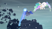 Luna clearing the storm clouds S6E2