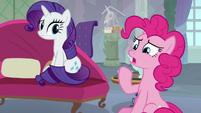 Pinkie Pie suggesting Spike S8E9