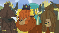 Rutherford's yak subjects horn-bump with him S7E11